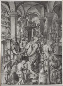 Het laboratorium van alchemisten