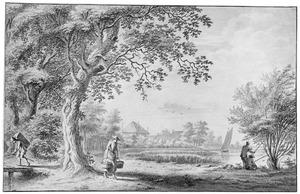 Boerenhuizen aan de oever van Het Gein