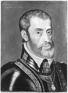 Portret van Karel V (1500-1558), keizer van het Heilige Roomse Rijk