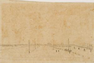 De haven van Scheveningen, rechts enkele gemeerde schepen