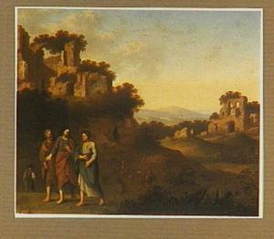 Arcadisch landschap met de Emmausgangers