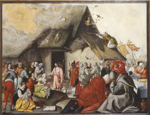 De parabel van Christus als de Goede Herder met een reformatorische, anti-katholieke strekking