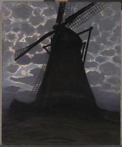 Windmill in the evening