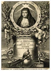 Titelpagina voor F. Tristan, La Peinture de la Serenissime Princesse Isabelle Claire Eugenie, Antwerpen 1634