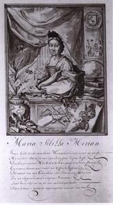 Portret van Maria Sibylla Merian (1647-1717)