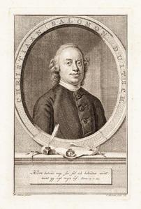 Portret van (Christiaan) Salomon Duitsch (1734-1795)