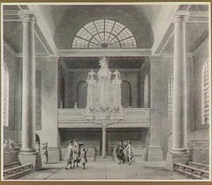Haarlem, interieur van de Doopsgezinde kerk