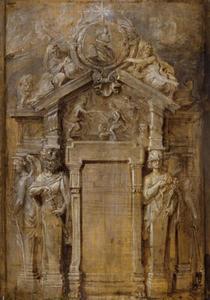 Ontwerp voor de titelpagina van C. Gevartius, de Pompa Introïtus Ferdinandi