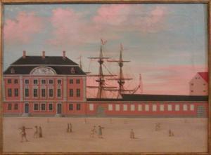 Gebouw voor de Deense Aziatische Compagnie, ontworpen door Philip de Lange