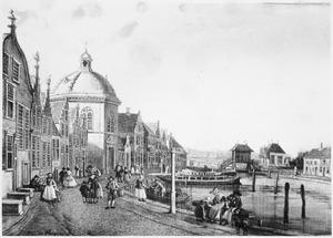 De oude dorpskern van Leidschendam met de Hervormde kerk en de sluizen