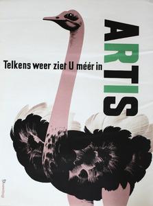 Artis-Affiche: 'Telkens weer ziet u meer in Artis'