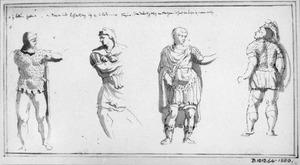 Vier Romeinse soldaten