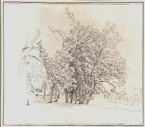 Heuvellandschap met loofbomen