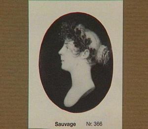 Portretminiatuur van een onbekende vrouw