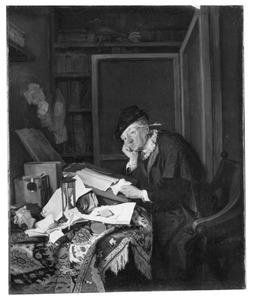 Notaris in zijn kantoor