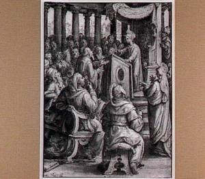 Christus lerarend in de tempel