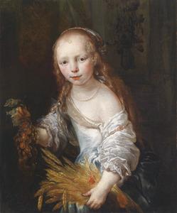 Portret van een jong meisje als Ceres