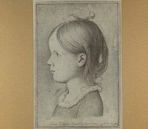 Portret van Marie Danville op vierjarige leeftijd