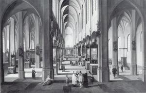 Interieur van de kathedraal van Antwerpen