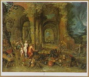 Allegorie van het vuur: Venus in de smidse van Vulcanus