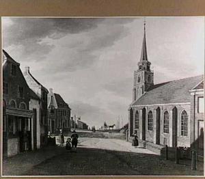 De Keizerstraat in Scheveningen gezien naar het strand