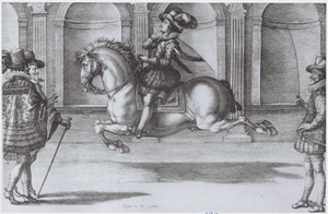 M. le Comte de Blare, een capriole uitvoerend