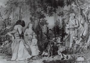 Portret van Jan Balthasar van der Upwich (1763-1829) en zijn familie