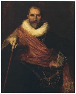 Zelfportret als kolonel Johan Claeszoon Loo (deelkopie naar Frans Hals uit 1633)
