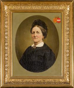 Portret van Maria Francisca Xaveria barones van Hugenpoth tot Aerdt (1816-1897)