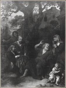 Jozef's met bloed bevlekte rok wordt aan Jacob getoond (Genesis 37:32-34)