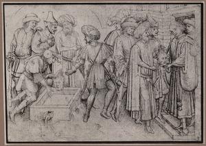 Het wassen en het aanbieden van het hoofd van de H. Julianus van Brioude aan een jonge edelman
