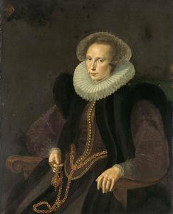 Portret van Griete van Rhijn (1585-1652)