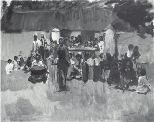 Gamelangroep met danseres