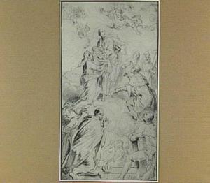 Heilige Familie en andere heiligen, vereerd door een vorstelijke familie
