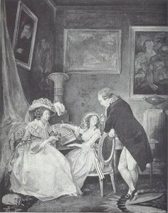 Portret van graaf Gustaf Adolf Sparre en zijn gezin