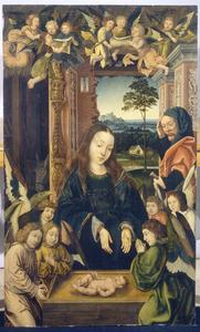 Aanbidding van het Christuskind door Maria en Josef