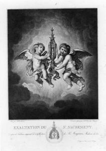 De monstrans gedragen door twee cherubijnen