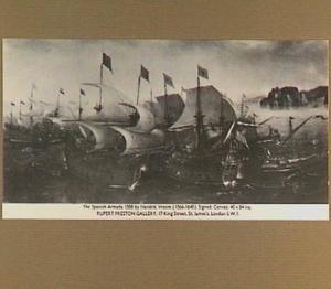De slag bij Cadiz, 1596
