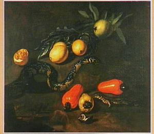 Studie van Surinaams fruit met reptielen