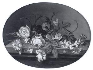 Bloemen op een tafel