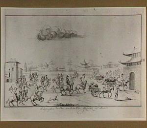 Het uitrijden van de ambassadeur en zijn gevolg in Peking