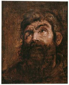 Studie van het hoofd van een apostel