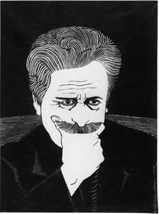 Zelfportret van de kunstenaar Samuel Jessurun de Mesquita