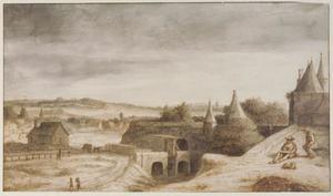 De Janspoort te Arnhem, gezien vanuit het westen