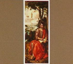 Johannes de Evangelist op Patmos (op de buitenzijde: Christus als tuinman (Noli me tangere))