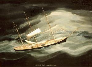 Fregat Schiedam in een orkaan