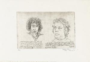 Portretten van Peter Vos (door Frank Lodeizen) en Frank Lodeizen (door Peter Vos)