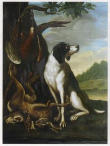 Jachthond met geschoten wild
