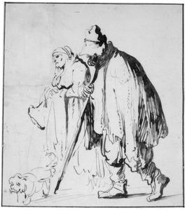 Bedelaars met een hond