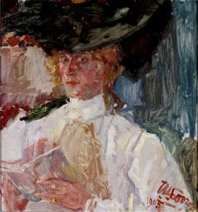 Portret van Lucie van Dam van Isselt (1871-1949)